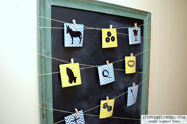 The Easter Story (Free Printable)Ideas, Free, Stories, Easter, Clothespins Crafts, Art, Celebrities Decor, Colgar, Chalkboards Frames