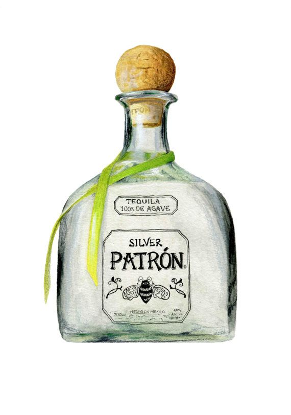 Patrón Tequila Patrón Silver / / Original por KendyllHillegas, $20.00