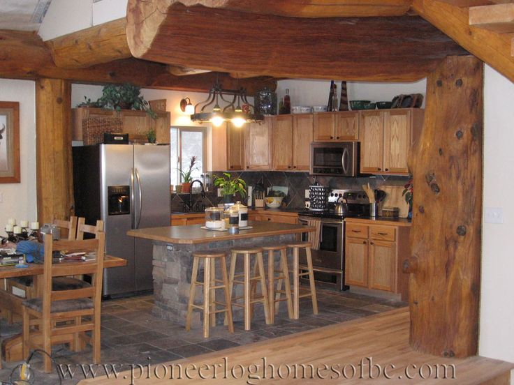 Small L Shaped Kitchen With Stone Tile Wood Floors