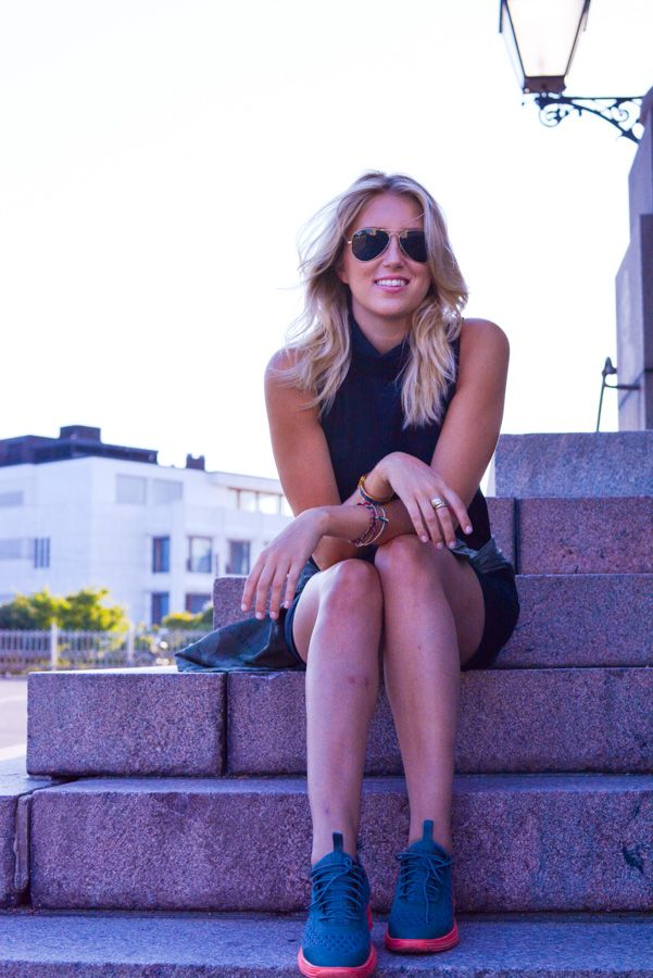 Nike Lunarlon Sky Elite & Mango Dress. Urban Summer Style by Sofia's Visual Vanity