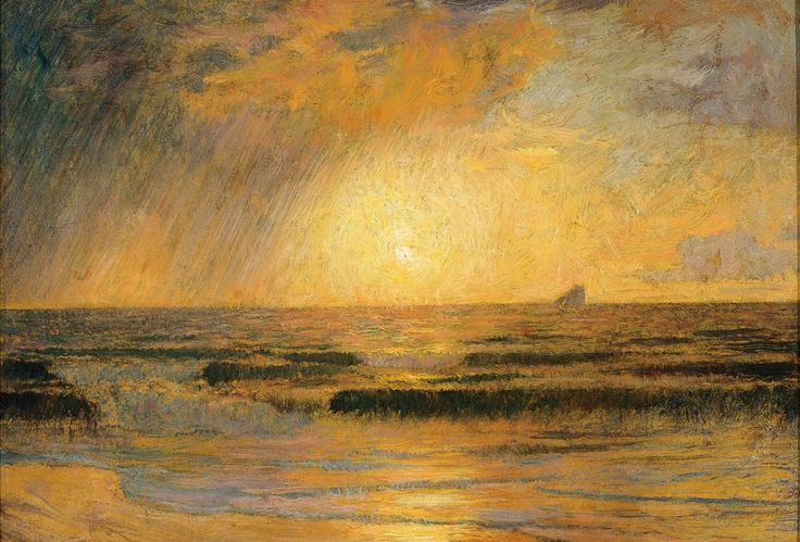 Sunrise over the Sea - Menard Marie Auguste Emile Ré