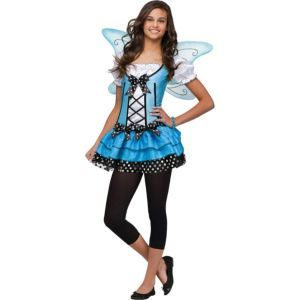 Teen Girls Blue Belle Fairy Costume - this is what i might be for Halloween :)