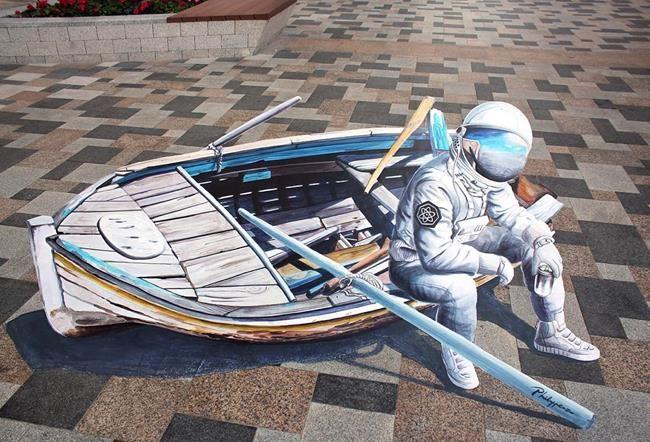 Philip Penzo'dan Gerçekliğe Meydan Okuyan 3D Sokak Sanatı Örnekleri Sanatlı Bi Blog 1