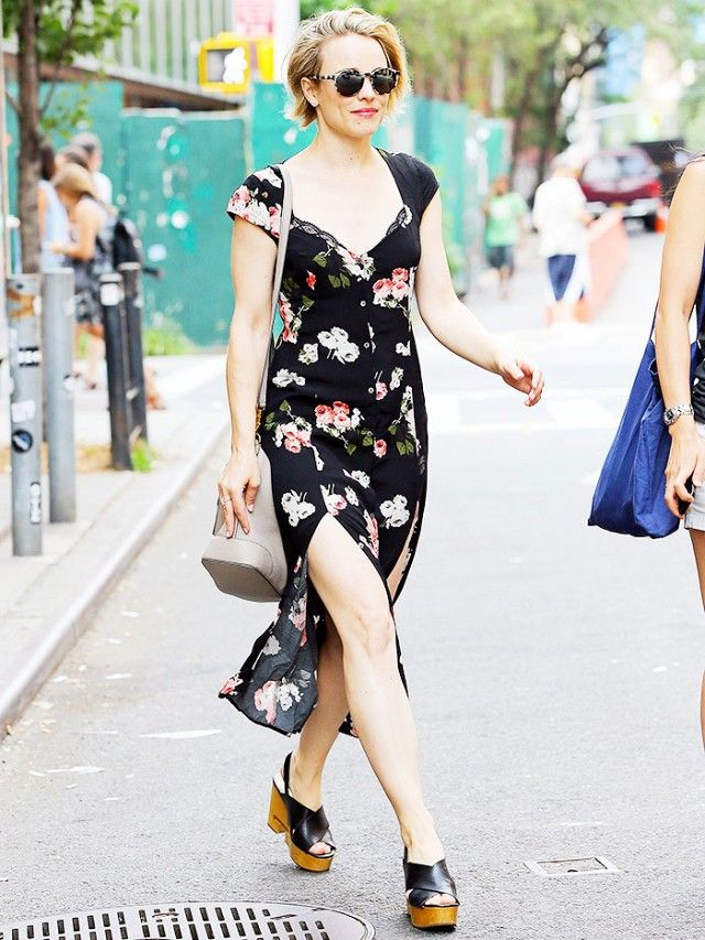 The Affordable Dress Rachel McAdams Loves via @WhoWhatWear