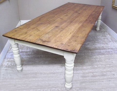 Farm Table To Seat 10 | WONDERFUL LARGE FARMHOUSE STYLE DINING TABLE