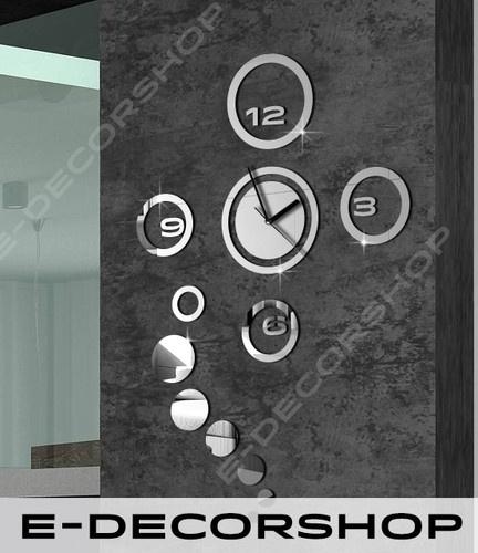 Decorative Wall Clock Mirror Rings + Great Design