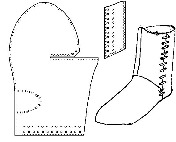 turnshoe  - medieval boot pattern