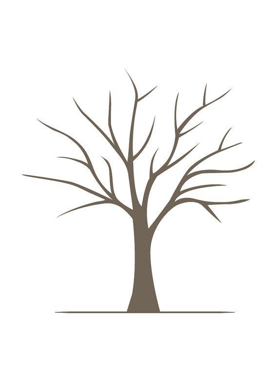 DIY Fingerabdruck Baum Poster  sofort-Download  klein von lovliday