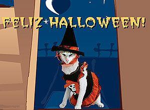 Halloween con espantosas criaturas... - Tarjetas virtuales gratis de Noche de Brujas Halloween - Correomagico | Mágicas postales animadas gratis
