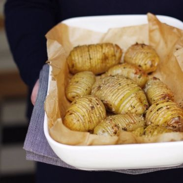 hasselback aardappelen | Njamelicious for Dille & Kamille