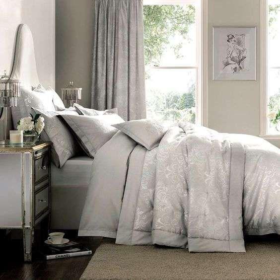 Idee camera da letto color tortora - Biancheria da letto color tortora