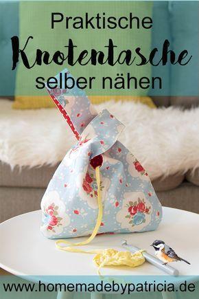 DIY Idee: genähte Knotentasche #genahte #knotentasche