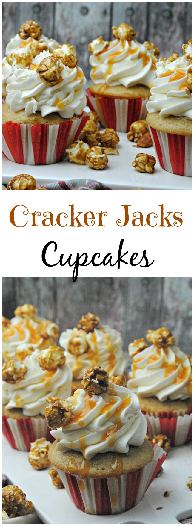 Cracker Jacks Cupcakes