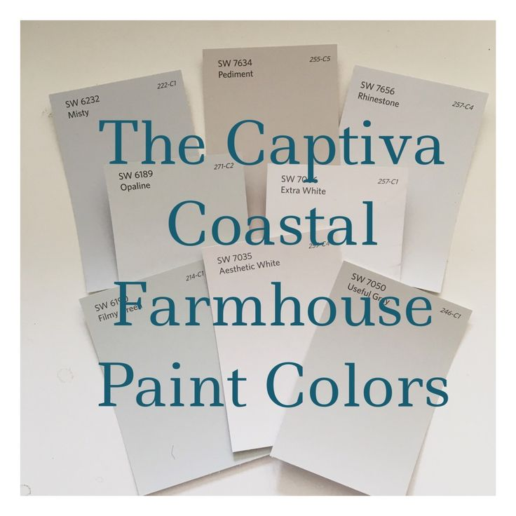 Looking For A Coastal Farmhouse Paint Palette? Soft Colors