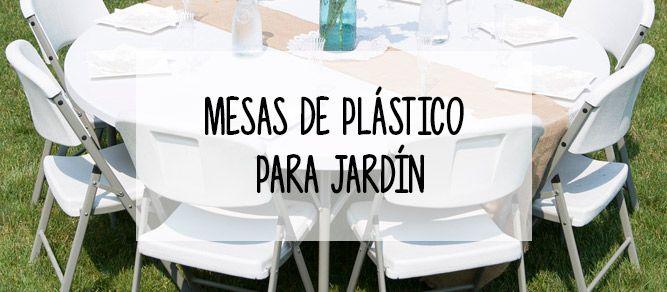 mesa plegables de plastico para el jardin
