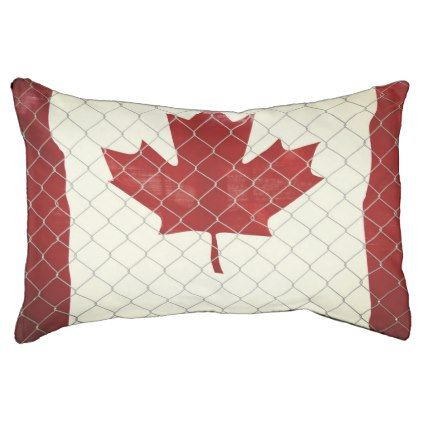 Canadian Flag. Chain Link Fence. Rustic. Cool. Pet Bed - rustic gifts ideas customize personalize