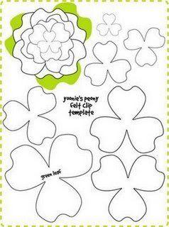 Moldes para Todo: ** Moldes para hacer Flores **