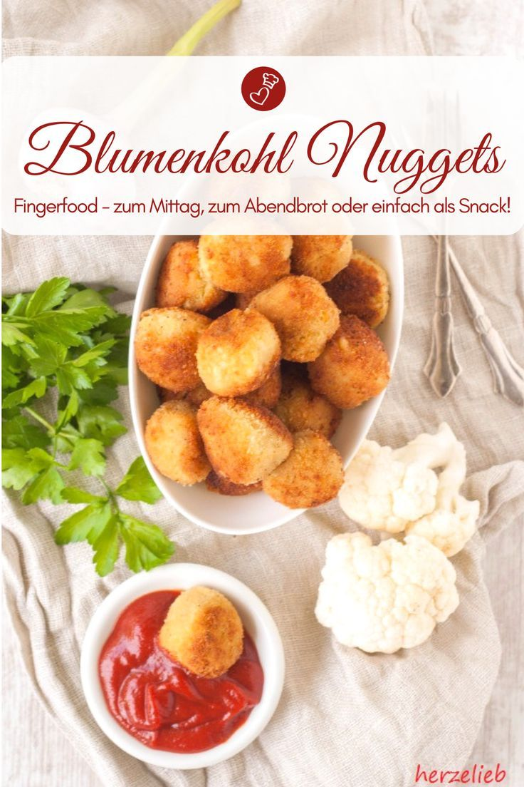 Blumenkohl Nuggets Rezept – Snack, den Kinder und Erwachsene lieben