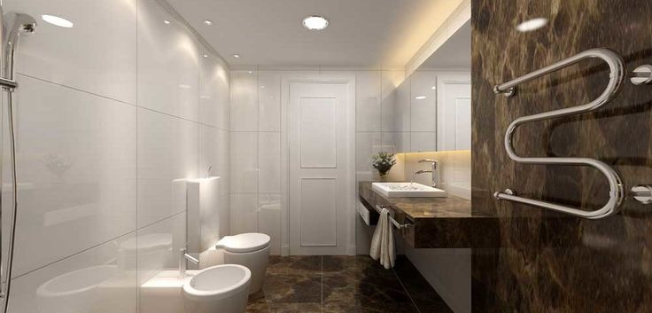 Small Bathroom Ideas Design with wall dark marble and white bathub