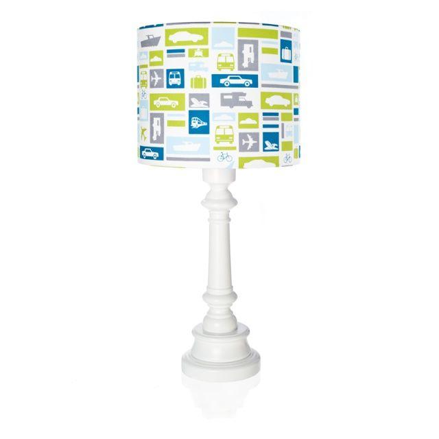 TRANSPORT lamp for kids - Lamps & Co.  Remarkable lampshade table lamp TRANSPORT is a great idea for additional lighting in boy's room.