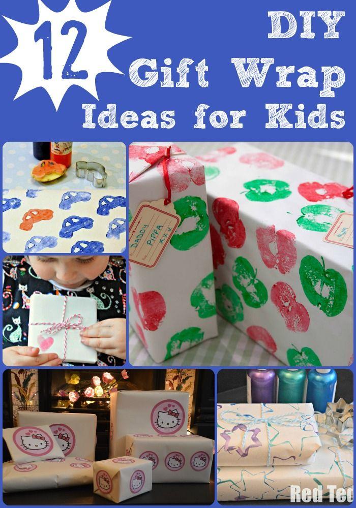 DIY Gift Wrap for Kids to Make