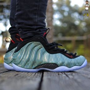 5e6d855ce00bf Nike Air Foamposite One Gone Fishing Dark Emerald Challenge Red Black
