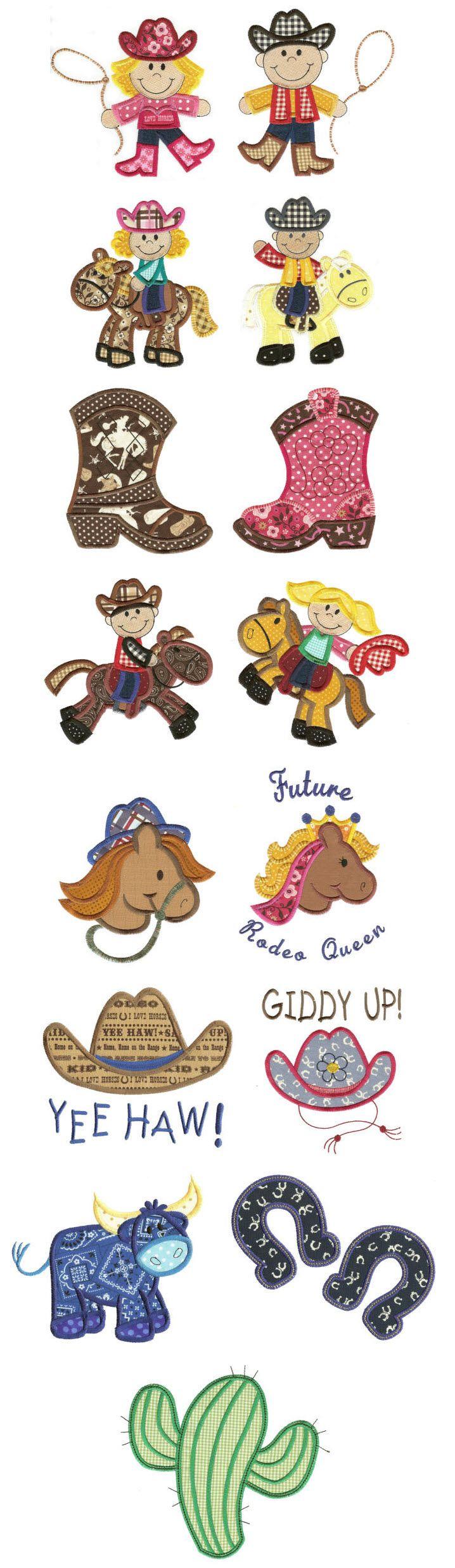 Embroidery | Free Machine Embroidery Designs | Ride Em Cowboy Applique