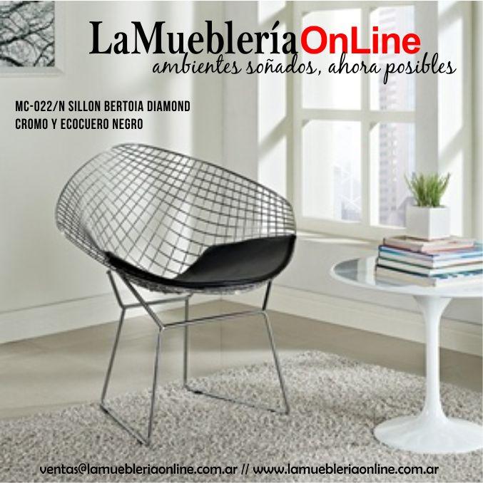 Sillones individuales modernos ecocuero y cromo  Para conocer los precios ingresar en : www.lamuebleriaonline.com.ar