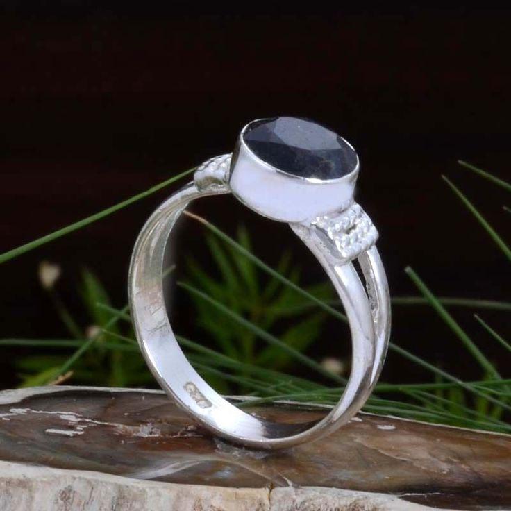 925 STERLING SILVER EXCLUSIVE Black Onyx FANCY RING 2.85g DJR10889 SZ-7 #Handmade #Ring