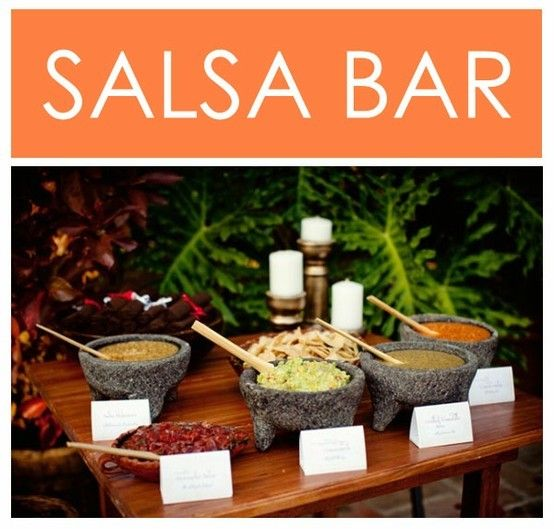 Art I wish I did this for my wedding reception salsa and chips are my favorite food!!! parties-and-event-planning