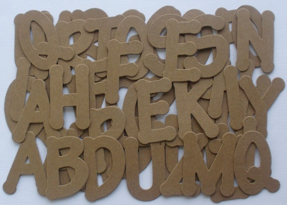 CHUNKY FONT   48 Piece Set  Letters  Raw by GlitterDustDesigns, $4.99