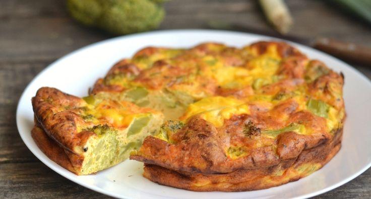 Tészta nélküli brokkolis quiche