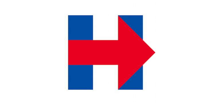 Hillary Clinton 2016 presidential campaign logo | graphic design. visual communication. symbol. logo. political design.