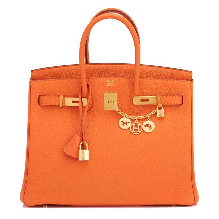 Hermes Birkin Bag 35cm Orange Gold Hardware Image 1