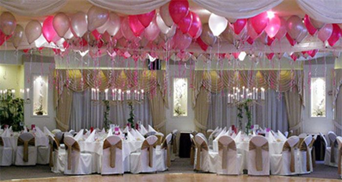 I thought balloons as wedding decor will be better off for Cheap reception venue ideas
