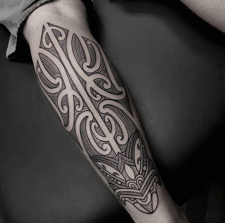 Ta Moko leg tattoo done by Tristan (Dead Meat Tattoo) #sunsettattoonz