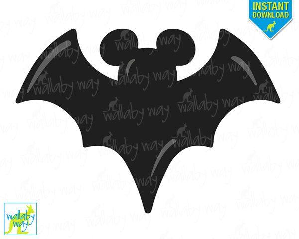halloween mickey bat printable iron on transfer or use as clip art rh pinterest com Halloween Witch Clip Art All Halloween Pictures Clip Art