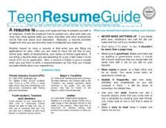Image result for Teenage Resume   When you have your content, check out ResumeFoundry on Etsy for Student Resume Templates  https://www.etsy.com/ca/shop/ResumeFoundry