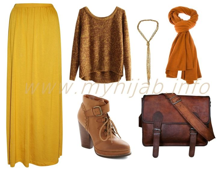 Mustard Tops and Maxi Skirts Outfit Combination Ideas