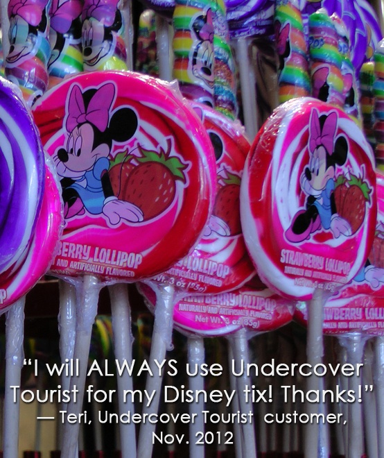 """""""I will always use Undercover Tourist for my Disney tickets."""" Teri, thanks for making us smile."""