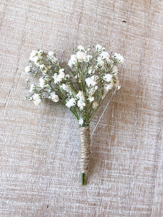 Babies Breath Collection Boutonniere Dried Babies Breath With Etsy In 2020 Babys Breath Dried Baby S Breath Bridal Packages