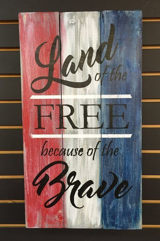 Land of the Free, Because of the Brave - I'd love this for our home. #cbloggers #bloggers