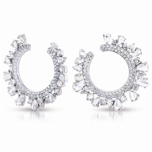 A. Link #diamond Wreath earrings #spike #brittspick
