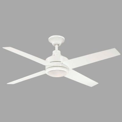 Hampton Bay Mercer 52 in. White Ceiling Fan-14924 - The Home Depot