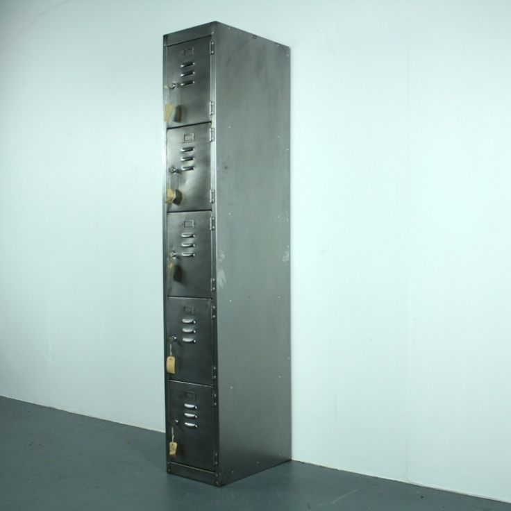 Vintage Metal Locker with 5 compartments