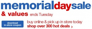 Sears Memorial Day Sales 2012 Offers $35 Coupon Code Savings, Free Shipping