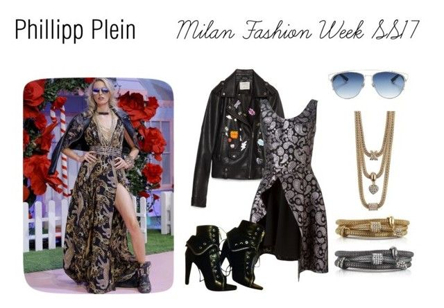 """Phillipp Plein Milan Fashion Week SS17"" by buckley ❤ liked on Polyvore featuring Zara, STELLA McCARTNEY, Alexander Wang, xO Design and Christian Dior"