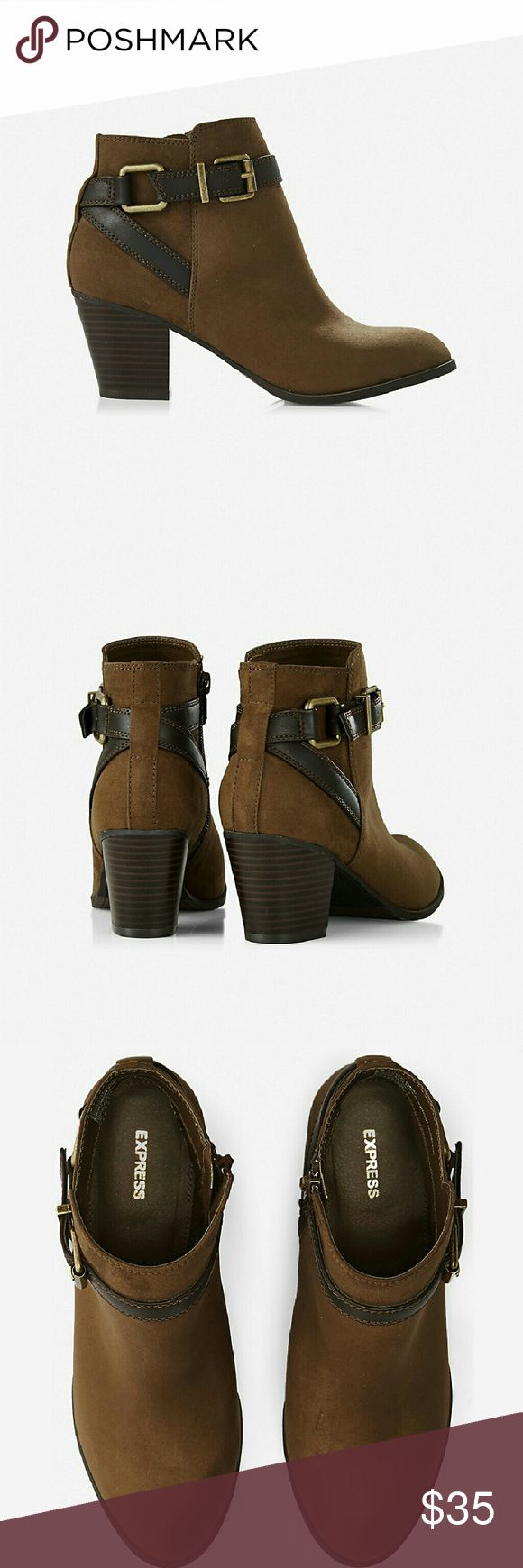 Express buckle ankle boots Express buckle ankle boots. Worn once. Express Shoes Ankle Boots & Booties