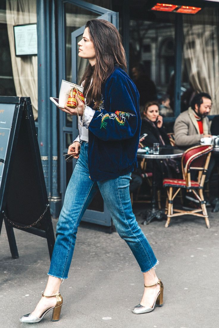 2 Eclectic Takes on the Embroidered Bomber Jacket via @WhoWhatWear