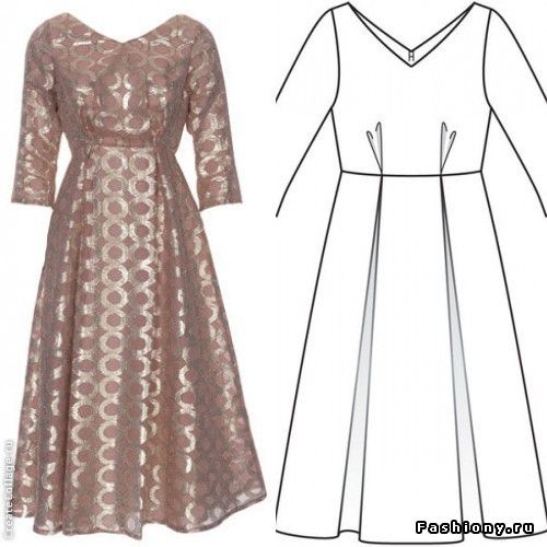 Крой 1954-1957 или мода 50-х (часть 1) / пальто в стиле 50-х